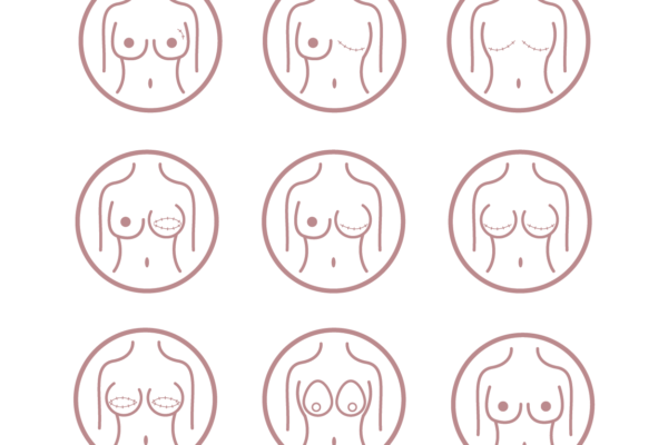 Breast Cancer Surgery & Reconstruction Icons